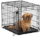 """24"""" Pet Dog Cat Crate Kennel Cage Bed pan Folding Metal Playpen & Cover Optional"""