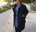 Women Trench Long Coat Double breasted Wool Blend Peacoat Lapel Jacket XL Ths01