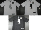 NWT Derek Carr 4 Oakland Raiders All Sewn Limited 60th Season Jersey Home Road
