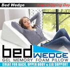 Sleep Bed Wedge Support Foam Pillow Large For Reading Knee Leg Back Acid DX image