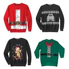 KINGSIZE Mens Festive Holiday Fleece Crewneck Sweater Big & Tall Sizes A30647RM