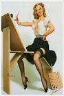 Right Touch Vintage Gil Elvgren Pinup Girl Poster