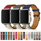 Leather Single Tour/double Tour Strap Band For Apple Watch Series 6 5 4 3 2 1 Se
