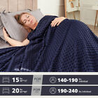 Weighted Blanket Queen Heavy Deep Sleep Reduce Stress Blankets w/Removable Cover