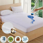 Waterproof Queen King Mattress Cover Soft Terry Cloth Surface Bed Protector Pad image