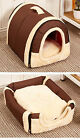Dog Cat Portable Nest Bed Cushion Puppy Detachable Warm Kennel Pet Modern House