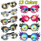 13 Color Steampunk Goggles Party Crystal Lens Prism Diffraction Crystal Glasses