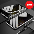 Privacy Tempered Glass Magnetic Case For Samsung S8 S9 S10 NOTE 8 9 Plus Cover