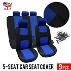 Купить 9 Parts Car Seat Cover for Auto Full Set + Steering Seat Cover/Belt Pads/5heads