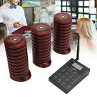 Restaurant Wireless Paging Queuing System 1 Transmitter 30 Coaster Pager 433MHz