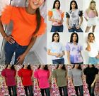 Women's Ladies Tulle Frill Ruffle Mesh Puff Short Sleeve Fashion Tee T-Shirt Top