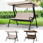 Outdoor Garden Backyard 3-seater Porch Swing Chair Chaise Lounge W/ Canopy