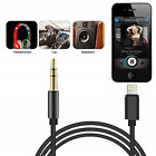 Lightning To 3.5mm  Jack  Male Car Audio Aux Lead Cable For Iphone 7 8 X- Ios12