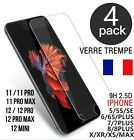 VERRE TREMPE IPHONE VITRE PROTECTION ECRAN IPHONE 11 12 PRO MAX SE 20 6 7 8 X XR