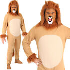 LION COSTUME ADULTS KIDS ANIMAL SCHOOL BOOK DAY CHARACTER COWARDLY FANCY DRESS