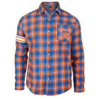 New York Knicks NBA Men's Wordmark Long Sleeve Flannel Shirt on eBay