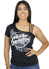 Harley-Davidson Womens One Shoulder Strappy Short Sleeve Casual Blouse Shirt $19.99 USD on eBay