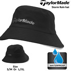 GOLF RAIN HAT TAYLORMADE GOLF MENS WATERPROOF STORM GOLF BUCKET HAT NEW 2 SIZES