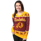 Washington Redskins Big Logo Women's V-Neck Ugly Sweater by Forever Collectibles $69.99 USD on eBay