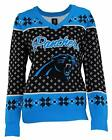 Carolina Panthers Big Logo Women's V-Neck Ugly Sweater by Forever Collectibles $49.99 USD on eBay