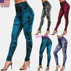 Women Denim Leggings Jeans Jeggings Full Length Pants. Plus Size Skinny Elsastic