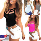 Sexy Women Summer Vest Top Sleeveless T Shirt Bandage Blouse Casual Tank Tops