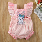 Easter Bunny Clothes Newborn Kids Baby Girl Romper Bodysuit Jumpsuit Outfits US