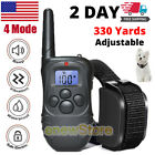 2 Dog Shock Collar Training Bark 4 Mode Electric Remote For Small Large Big Dogs
