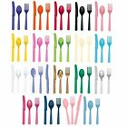 Assorted Plastic Cutlery - 24 Pieces - Party Tableware - Knife Fork Spoon Set