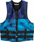 Fly Racing Neoprene Mens Life Vest Blue/Navy