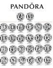 New Authentic Pandora Alphabet Vintage Letter Charm Silver Bead all A-Z With Pou