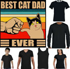 BEST CAT DAD EVER T-SHIRT, Meme Kitten Pet Lover Animal Mens Funny Father's Day
