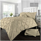 Pintuck Luxury Alford Duvet Cover Set Bedding With Pillowcases All Sizes Colours