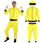 ADULTS 90S RAPPER COSTUME YELLOW TRACKSUIT MENS GANGSTER 1990S FANCY DRESS