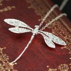 925 Silver Animal Dragonfly Necklace Pendant Chain Jewelry Party Wedding Lady