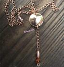 PICK YEAR Penny Drop Necklace Swarovski Crystal copper Chain 50 40 BIRTHDAY GIFT