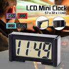 LCD Autos Digital Car Table Wall Clock Display Time Date Self-Adhesive Stick On