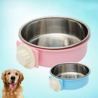 FJ- EE_ AM_ LC_ Stainless Steel Hanging Feeding Bowl fixed Food Water Pet Cat Do
