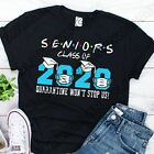 2020 Seniors Quarantine Graduation Class of 2020 T Shirt Gift Social Distancing image