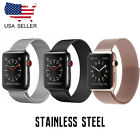 Apple Watch Band Stainless Steel Metal Closure Loop strap with Series 5 4 3 2  image