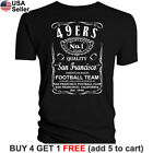 San Francisco 49ers T-Shirt JD Whiskey Graphic SF Men Cotton Whisky image