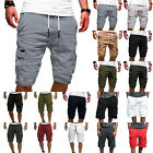 Kyпить Mens Cargo Shorts Pants Summer Casual Jogger Work Army Combat Trousers Elastic на еВаy.соm