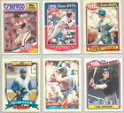1988,1989,1990 Ames-Revco-Rite Aid-Hills Baseball Cards #1-33 You Pick!