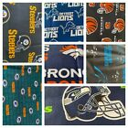 NFL Cotton Fabric 9 Inches x 58 inches (1/4 of a yard) $9.99 USD on eBay