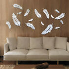 3d Mirror Wall Sticker Love Heart Feather Acrylic Wall Diy Home Mural Decal Room