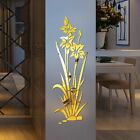 3d Mirror Flower Art Removable Wall Stickers Acrylic Mural Decal Home Decor Bb