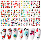Colorful Nail Water Decals Leaves Girls Fruit Pattern Nail Art Transfer Stickers