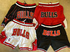 Kyпить Men's Chicago Bulls Vintage Basketball Black/Pinstripe/Red/White Stitched Shorts на еВаy.соm