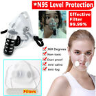 Face Mask Anti-droplets Respirator Silicone Reusable Face Mouth Cover Filter
