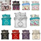 Printed Duvet Quilt Cover & Pillow Case Bedding Set Easy Care Single Double King